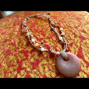 Lia Sophia pretty peach tone choker  Necklace